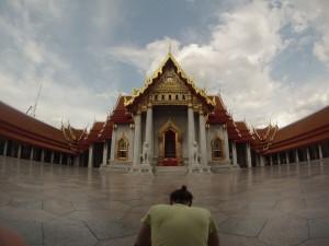 Mettendo a fuoco le guglie dorate, Bangkok