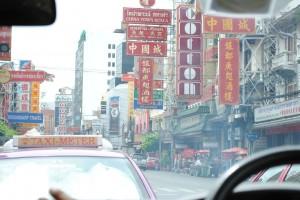 Le insegne in 3 lingue di Chinatown, Bangkok