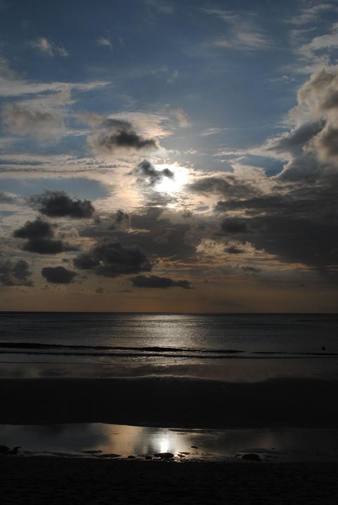 Nuvole al tramonto, Jimbaran