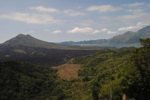 Le pendici del vulcano Batur