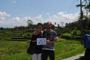 Grazie dalle risaie di Ubud!